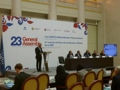 国連世界観光機関(UNWTO)に加盟、ロシアでの総会に参加しました あわせて開催されたアフィリエイトメンバー総会